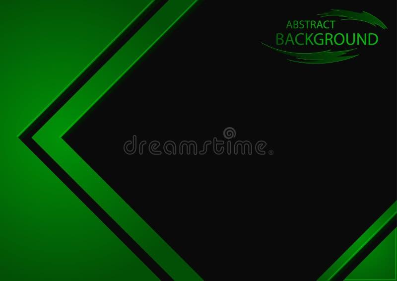 Abstrakt bakgrund med gröna geometriska beståndsdelar royaltyfri illustrationer