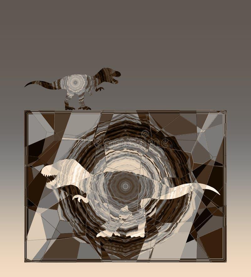 Abstrakt bakgrund med konturn av att flyga den rov- fågeln royaltyfri illustrationer