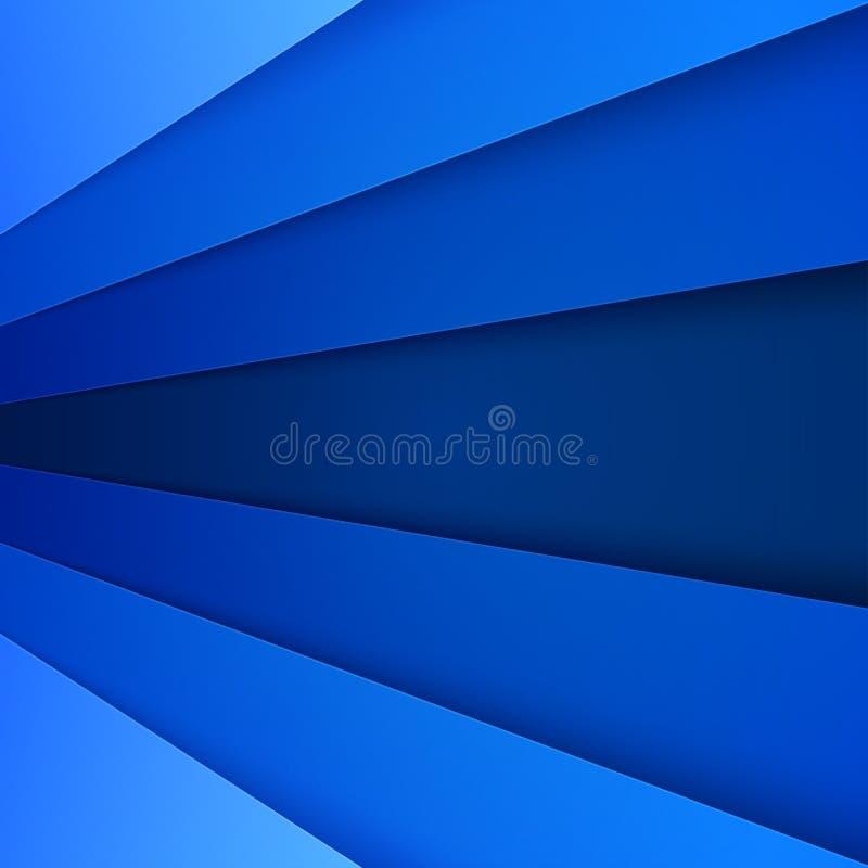Abstrakt bakgrund med lager för blått papper stock illustrationer