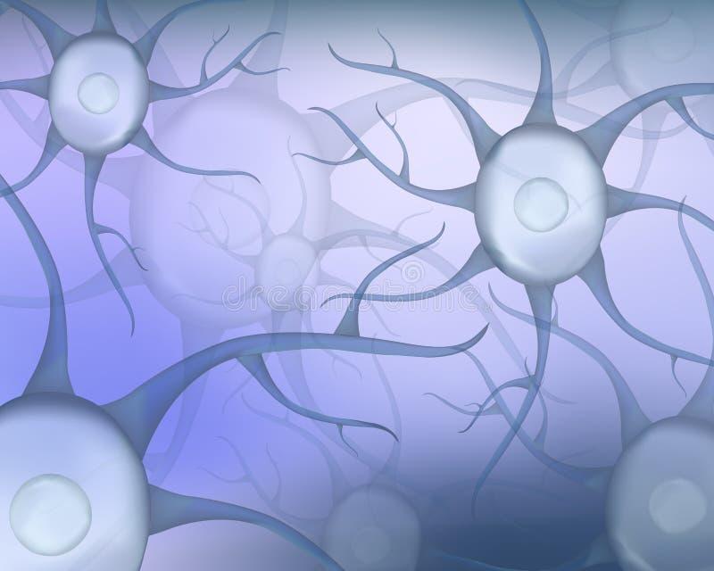 Abstrakt bakgrund med mänskliga neurons också vektor för coreldrawillustration Mall för medicin och biologi royaltyfri illustrationer