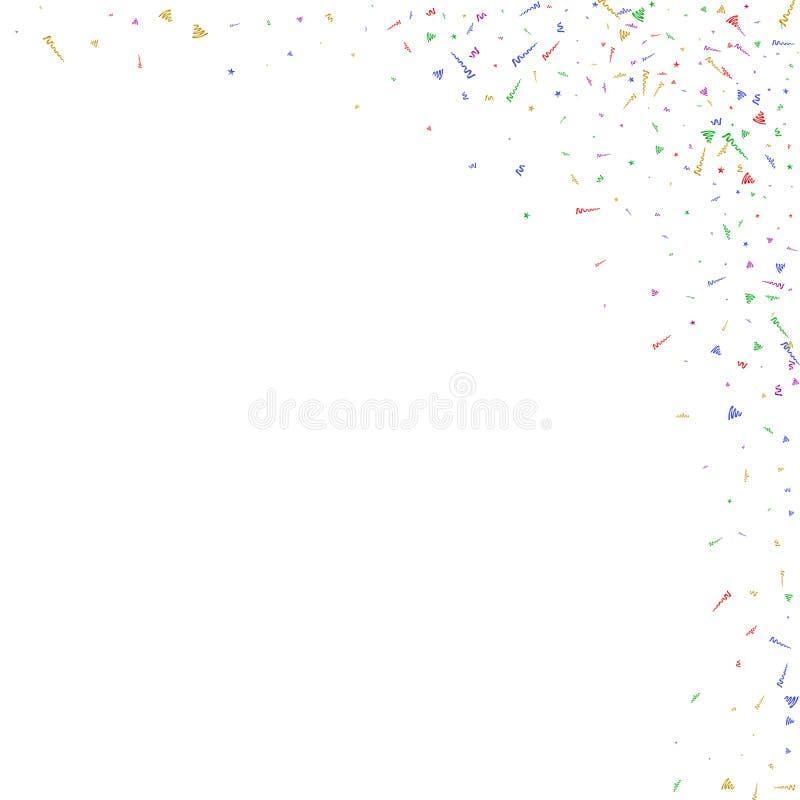 Abstrakt bakgrund med många fallande mycket små konfettistycken stock illustrationer