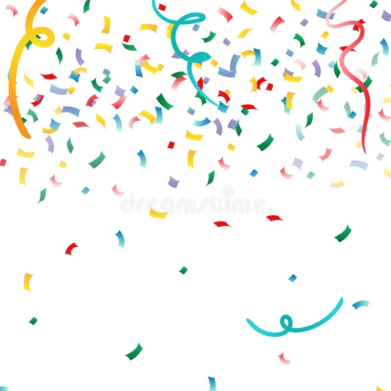 Abstrakt bakgrund med många fallande mycket små konfettistycken Det kan vara nödvändigt för kapacitet av designarbete royaltyfri illustrationer