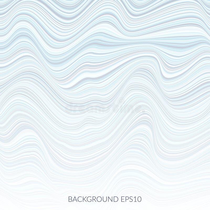 Abstrakt bakgrund med massor av vridna linjer stock illustrationer