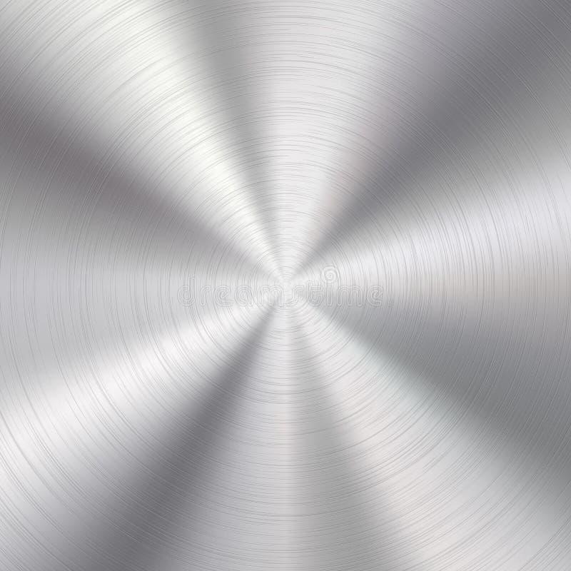 Abstrakt bakgrund med metalltextur vektor illustrationer
