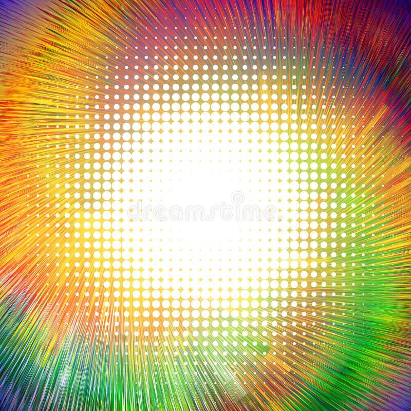 Abstrakt bakgrund med olika texturer Rotation av den geometriska modellen stock illustrationer