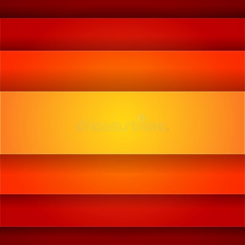 Abstrakt bakgrund med röda och apelsinlager royaltyfri illustrationer