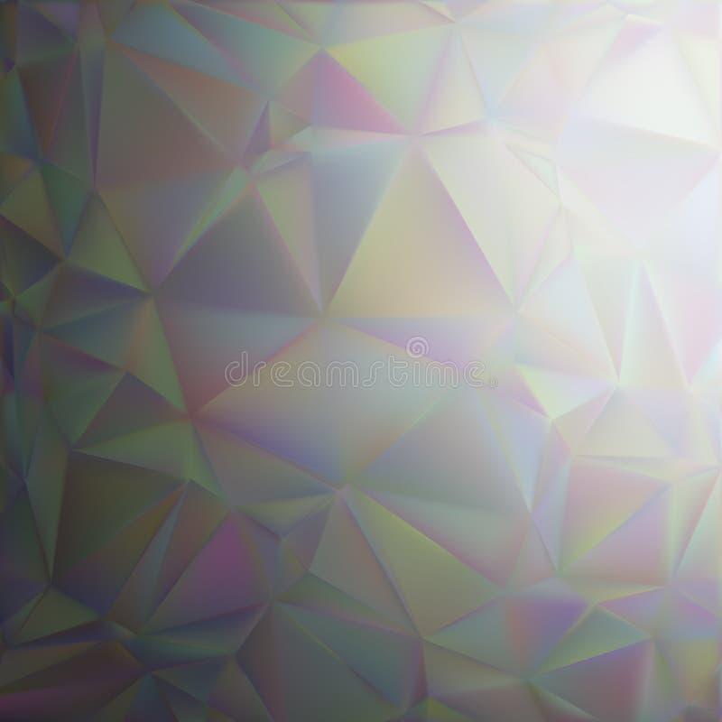 Abstrakt bakgrund med regnbågsskimrande ingreppslutning royaltyfri illustrationer
