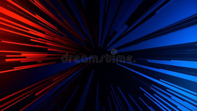 Abstrakt bakgrund med snabbt ljusa strimmor f?r flyga Neonlinjer animering vektor illustrationer