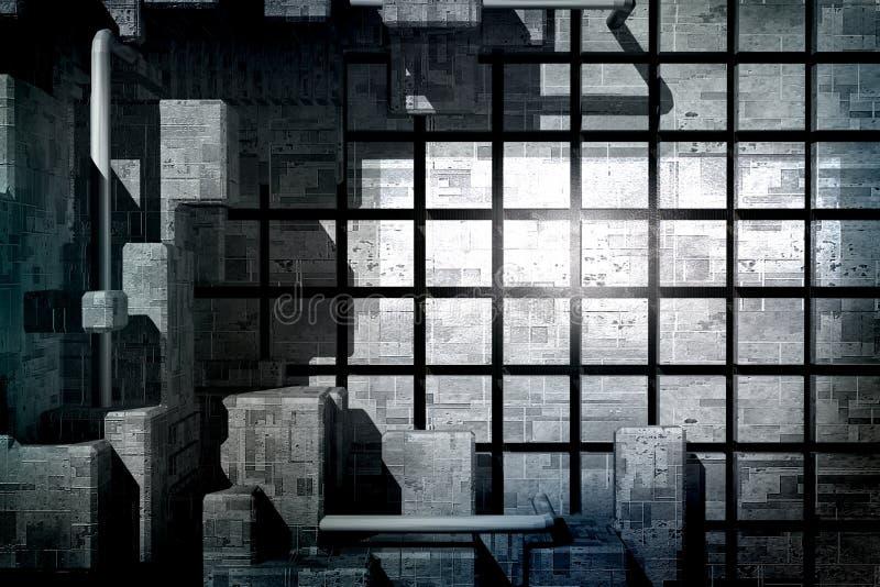 Abstrakt bakgrund med teknologiskt begrepp vektor illustrationer