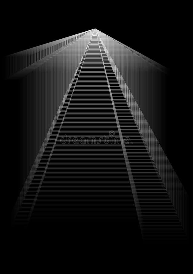 Abstrakt bakgrund med unika former vektor illustrationer