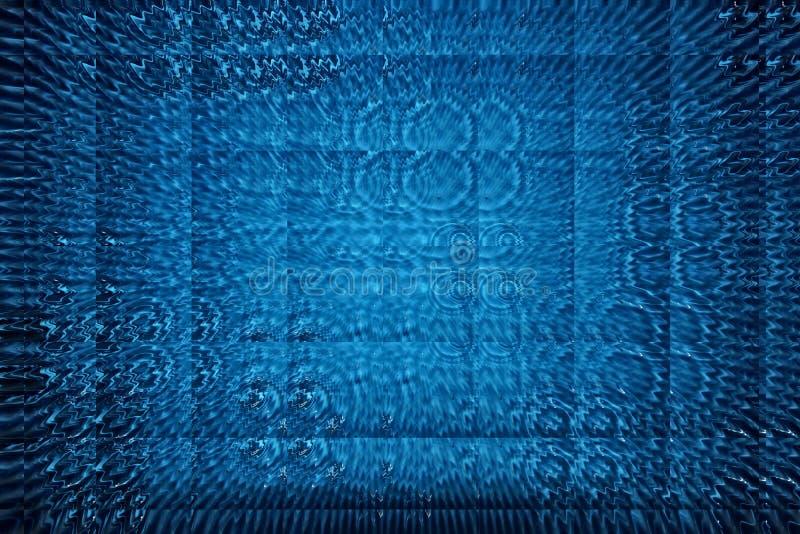 Abstrakt bakgrund med vattencirklar från droppvågor avspeglar metamorfos av vatten arkivfoto