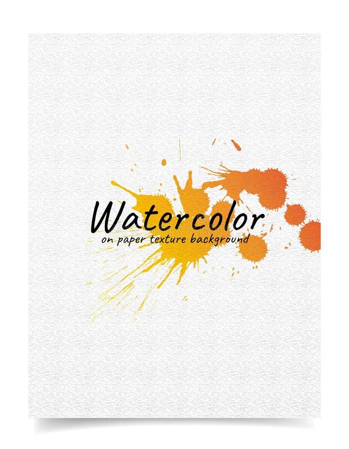 Abstrakt bakgrund med vattenfärgen på pappers- texturer vektor illustrationer