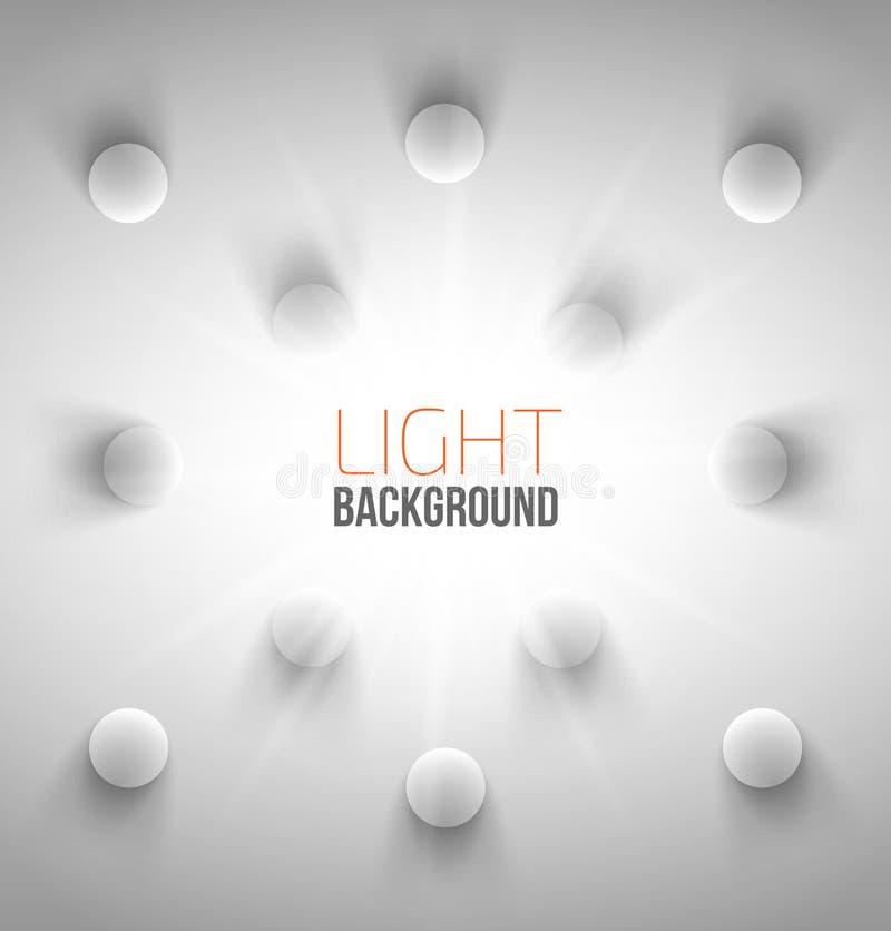 Abstrakt bakgrund med vita cirklar stock illustrationer