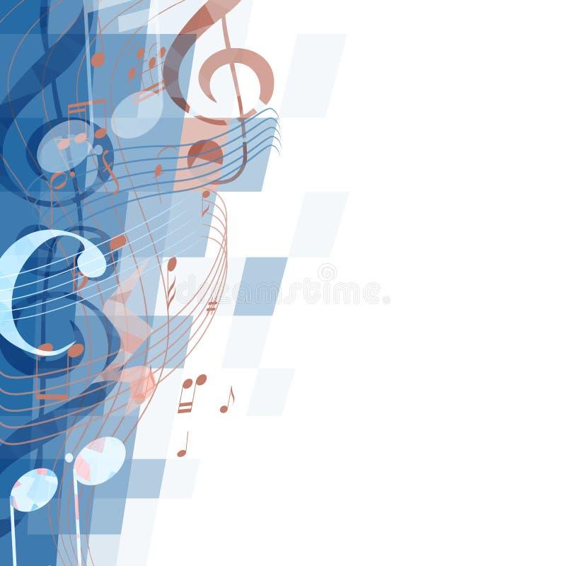abstrakt bakgrund mer musikal min portfölj stock illustrationer