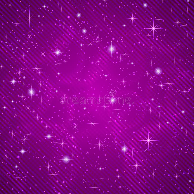 Abstrakt bakgrund: moussera som blinkar stjärnor royaltyfri illustrationer