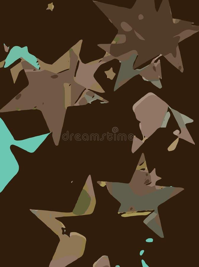 Abstrakt bakgrund mycket av stjärnor för design och tryck stock illustrationer