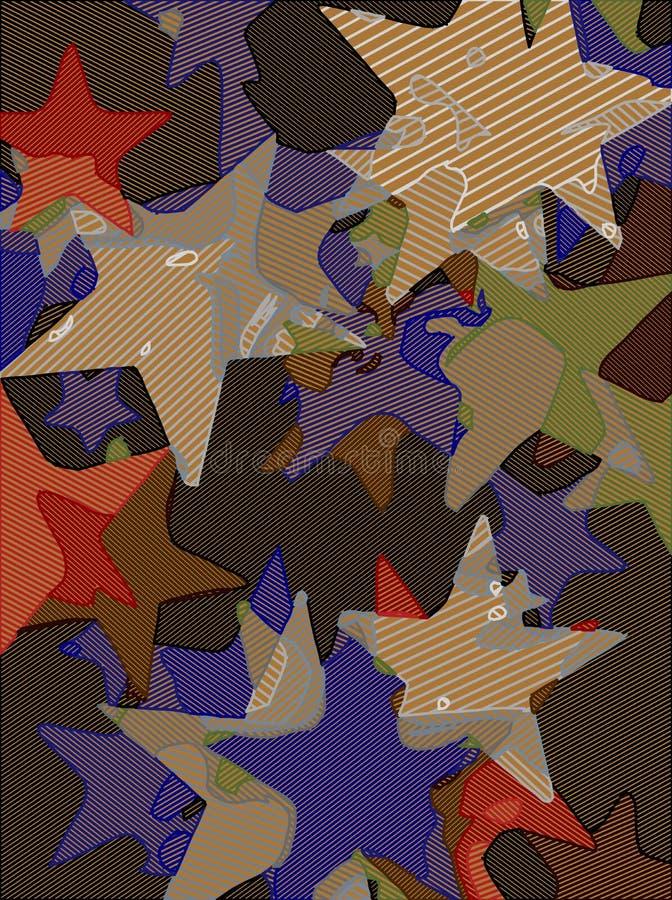 Abstrakt bakgrund mycket av stjärnor för design och tryck royaltyfri illustrationer