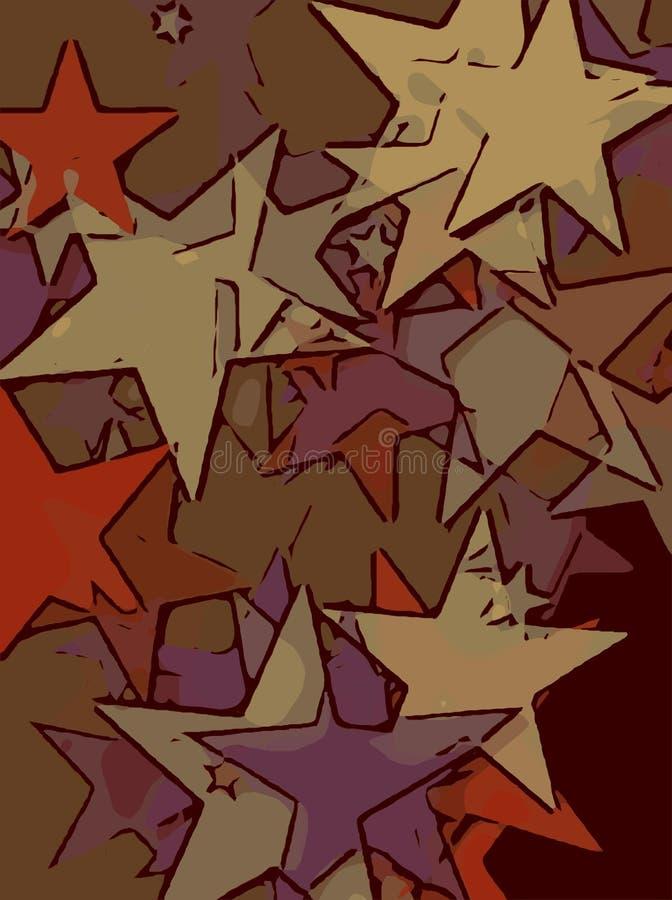 Abstrakt bakgrund mycket av stjärnor för design och tryck vektor illustrationer