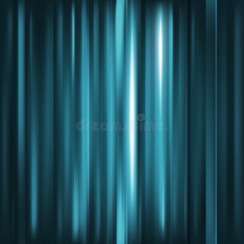 abstrakt bakgrund Rörelseljus - blåa vertikala linjer Vektorte vektor illustrationer