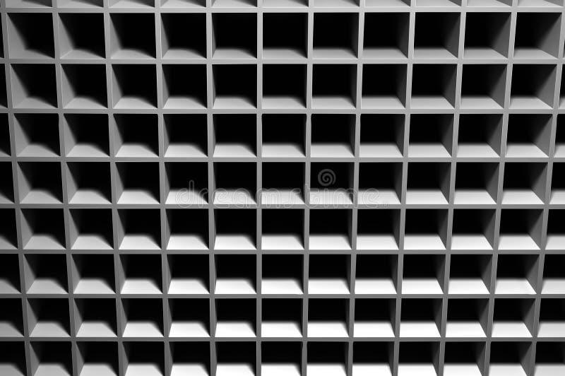 Abstrakt bakgrund som består av kubikhål royaltyfri illustrationer