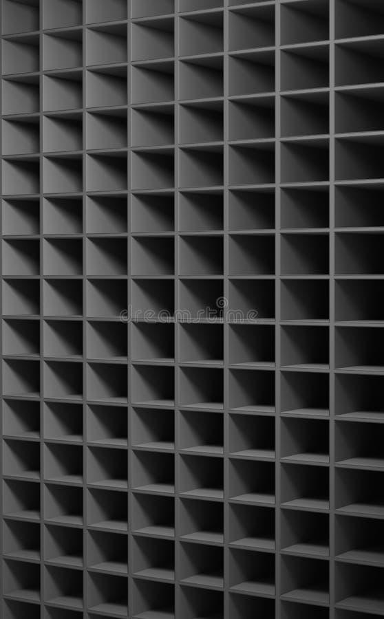 Abstrakt bakgrund som består av kubikhål stock illustrationer