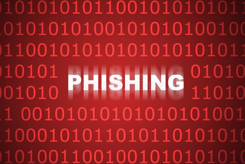 abstrakt bakgrund som phishing royaltyfri illustrationer