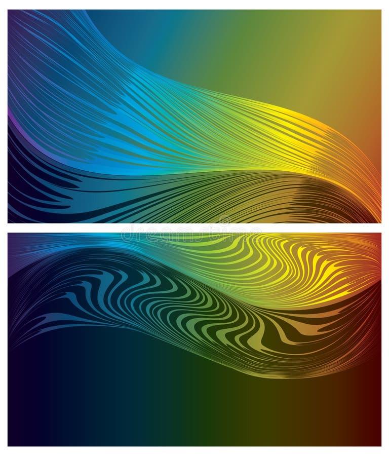 abstrakt bakgrunder ställde in spectrum stock illustrationer