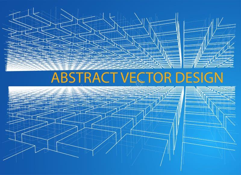 abstrakt bakgrundsaskar också vektor för coreldrawillustration stock illustrationer