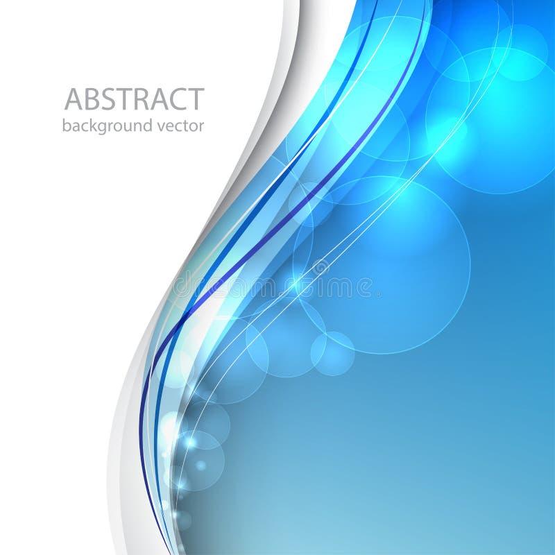 abstrakt bakgrundsblålinjen också vektor för coreldrawillustration stock illustrationer