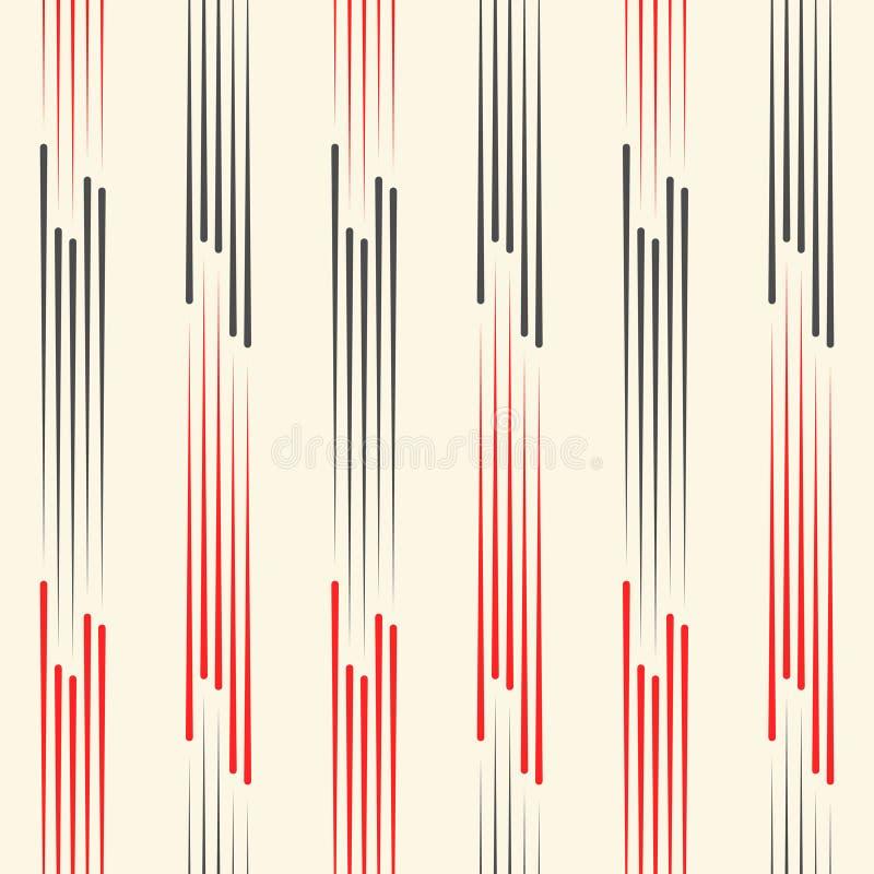 abstrakt bakgrundsblackred Seamless vertikal modell royaltyfri illustrationer