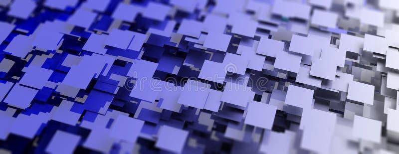 abstrakt bakgrundsbluefyrkanter illustration 3d vektor illustrationer
