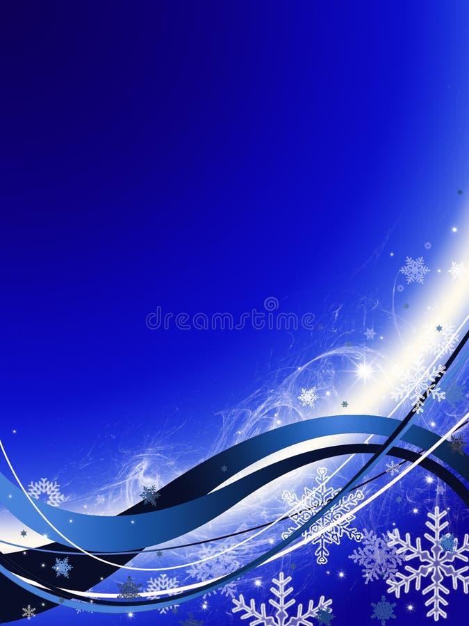 abstrakt bakgrundsbluejul stock illustrationer