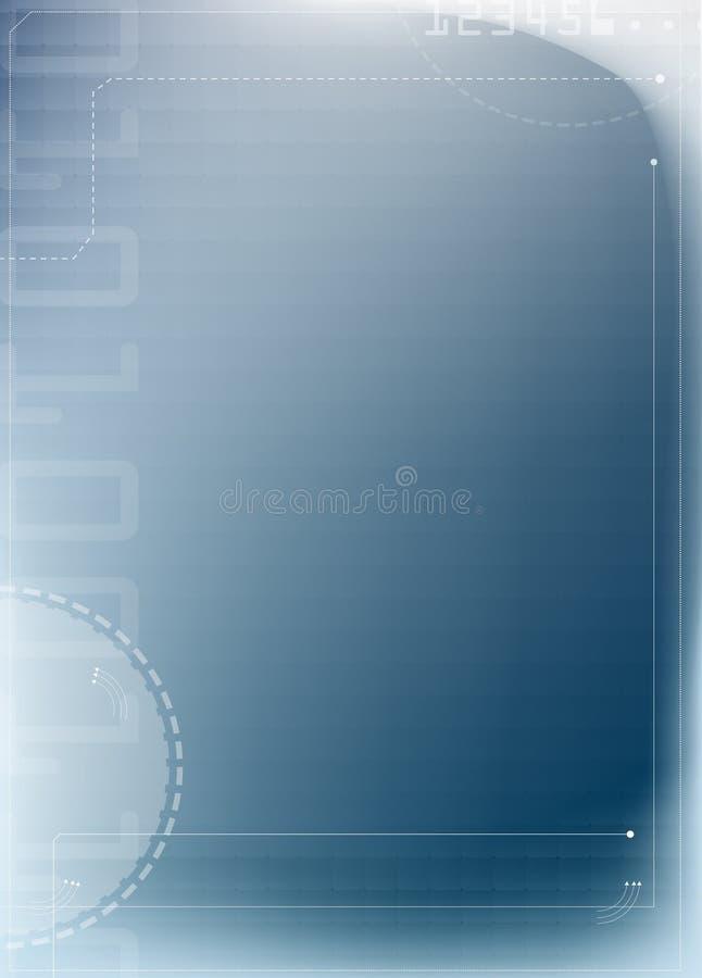 abstrakt bakgrundsblueteknologi stock illustrationer