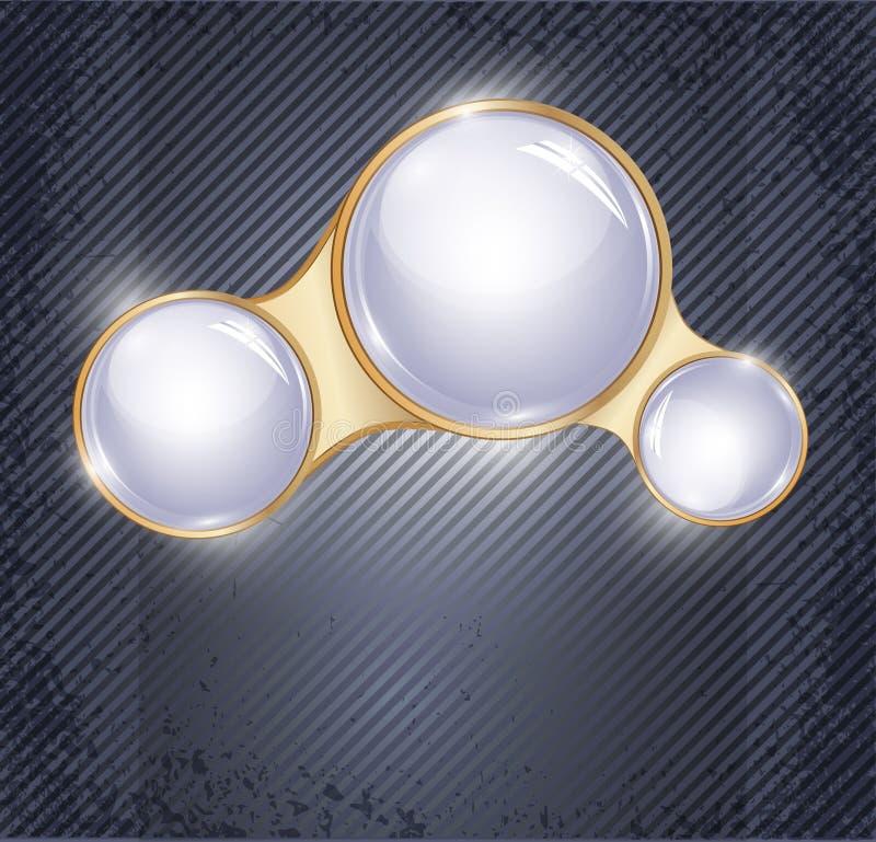 abstrakt bakgrundsbollexponeringsglas tre royaltyfri illustrationer