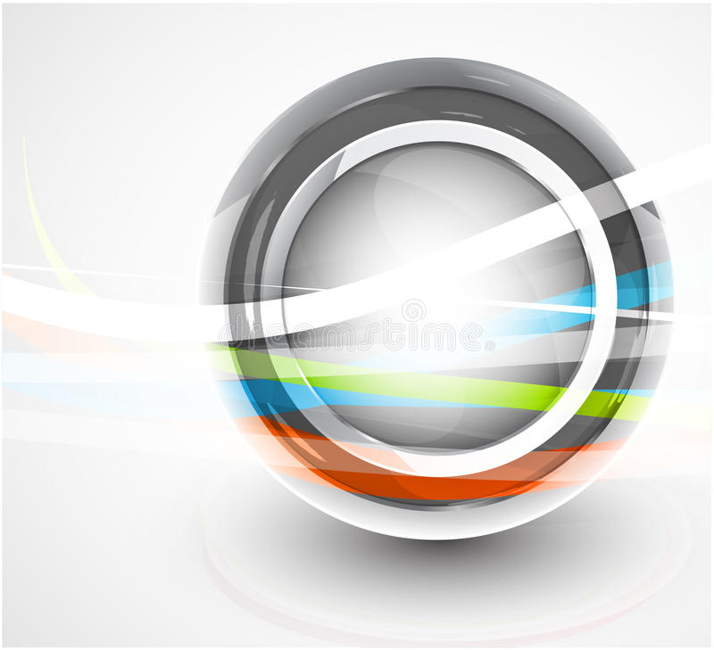 abstrakt bakgrundscirkelteknologi stock illustrationer