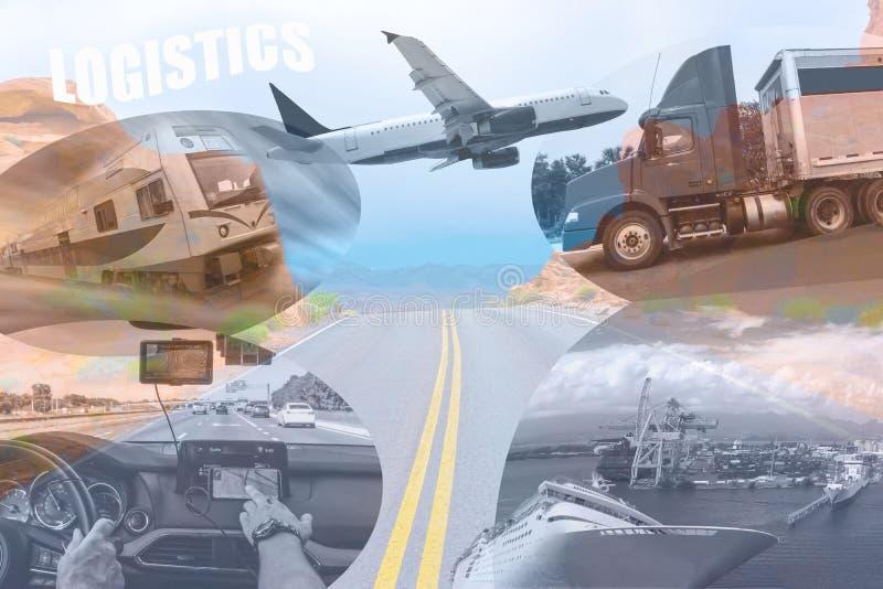 abstrakt bakgrundsdesign Lastbilar och transport royaltyfri foto
