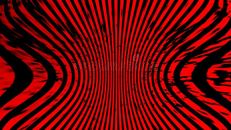 abstrakt bakgrundsduotone Konst f?r r?d halvton f?r hypnos psykedelisk Designmodell stock illustrationer