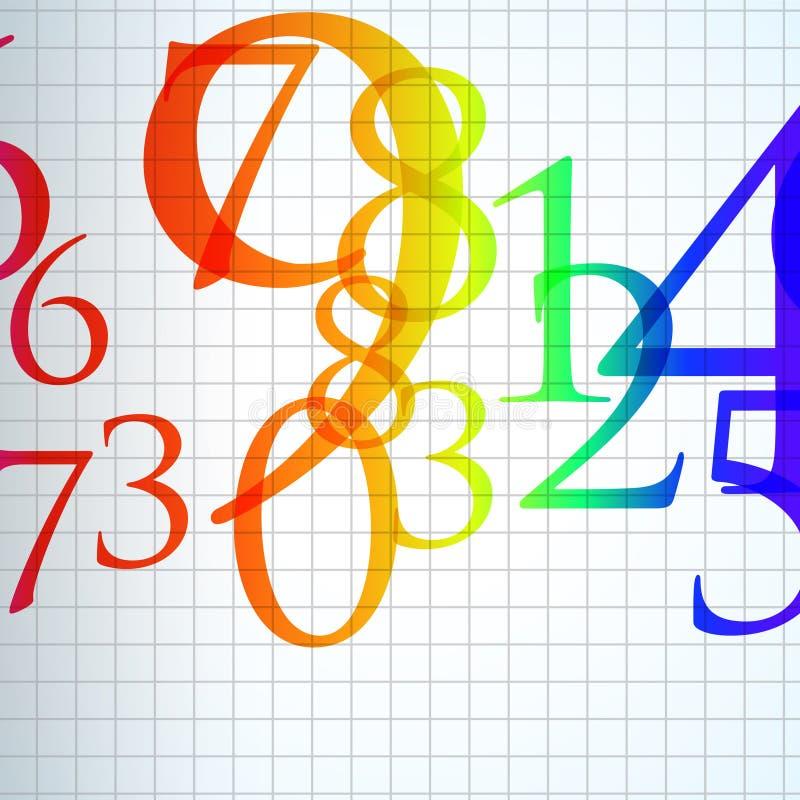 abstrakt bakgrundsfärgnummer royaltyfri illustrationer