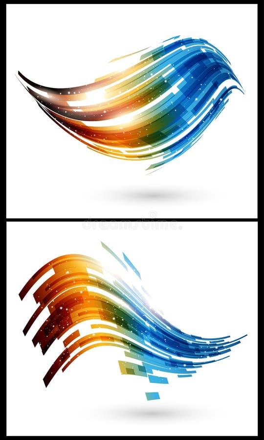 abstrakt bakgrundsfärgelement stock illustrationer