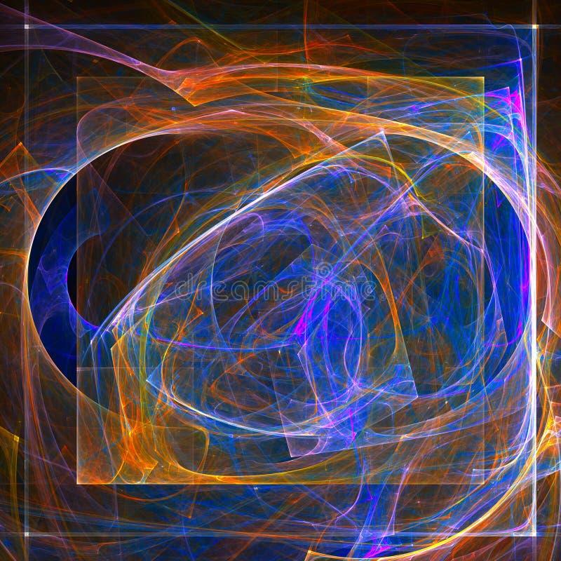abstrakt bakgrundsfractal stock illustrationer