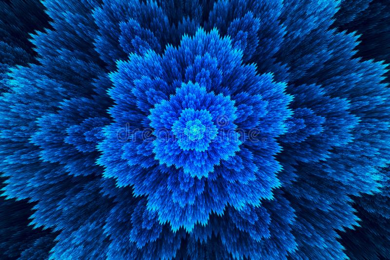 abstrakt bakgrundsfractal Högt detaljerad bakgrund som en underbar blomma För din idérika design vektor illustrationer
