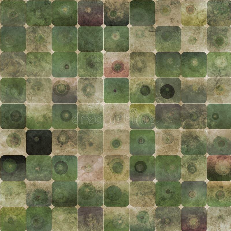 abstrakt bakgrundsgreenfyrkanter vektor illustrationer