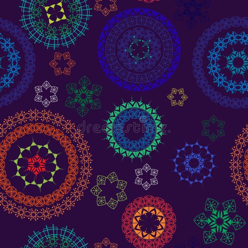 abstrakt bakgrundshenna seamless paisley royaltyfri illustrationer