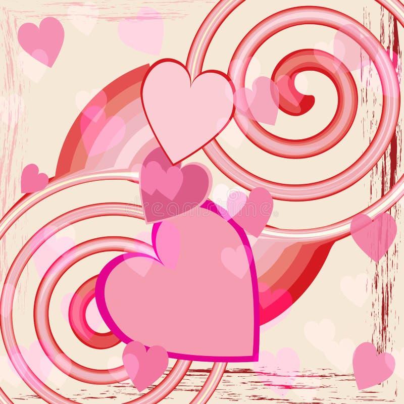 abstrakt bakgrundshjärtaförälskelse royaltyfri illustrationer