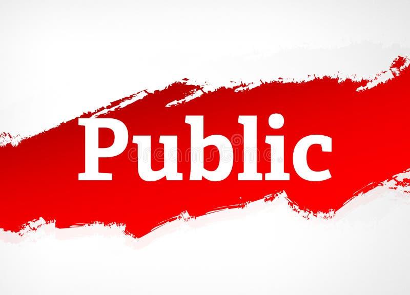Abstrakt bakgrundsillustration för offentlig röd borste royaltyfri illustrationer