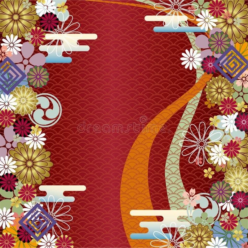 abstrakt bakgrundsjapan royaltyfri illustrationer