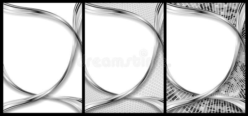 abstrakt bakgrundskromsilver royaltyfri illustrationer