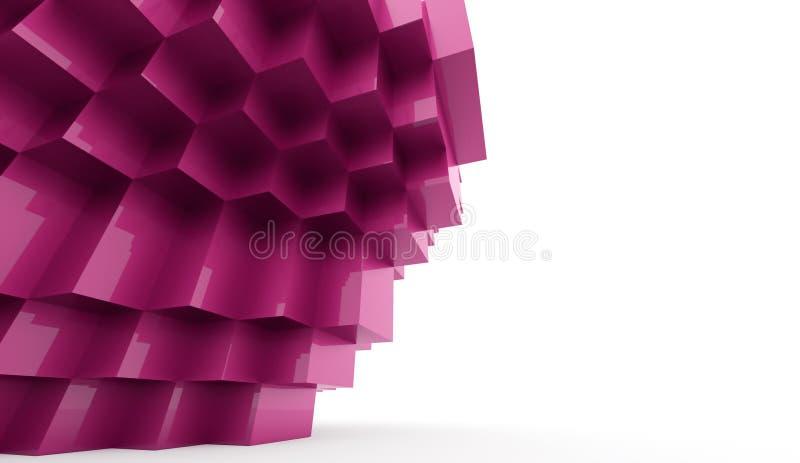 abstrakt bakgrundskuber stock illustrationer