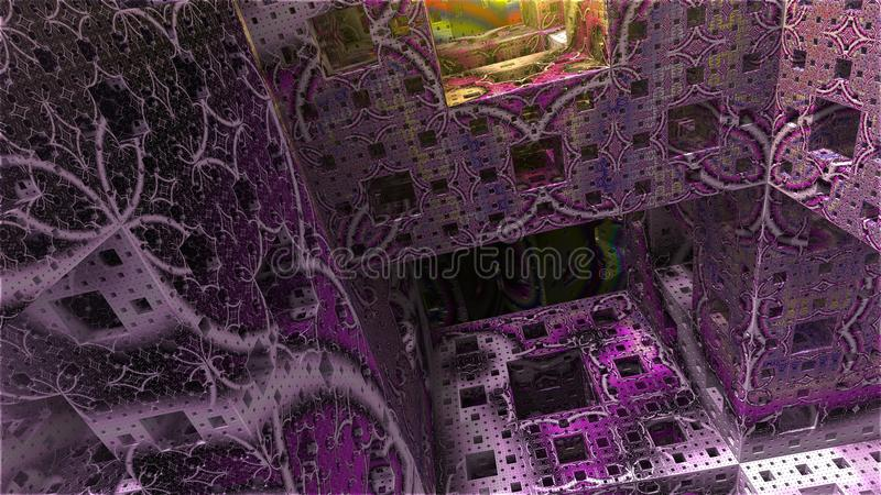 Abstrakt bakgrundskubvärld arkivfoton