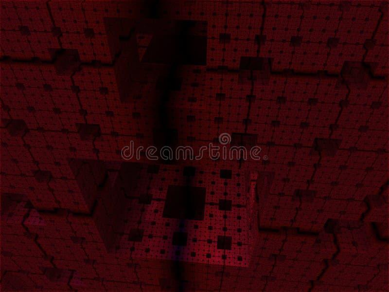 Abstrakt bakgrundskubvärld royaltyfria bilder